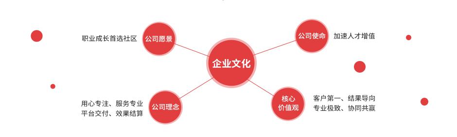 企业使命,企业愿景,核心价值观。企业理念
